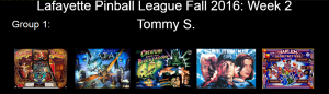 Fall season week 2 games