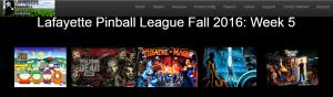 LPL Fall 16 Week 5 games