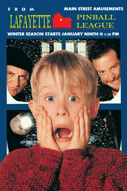home alone league poster