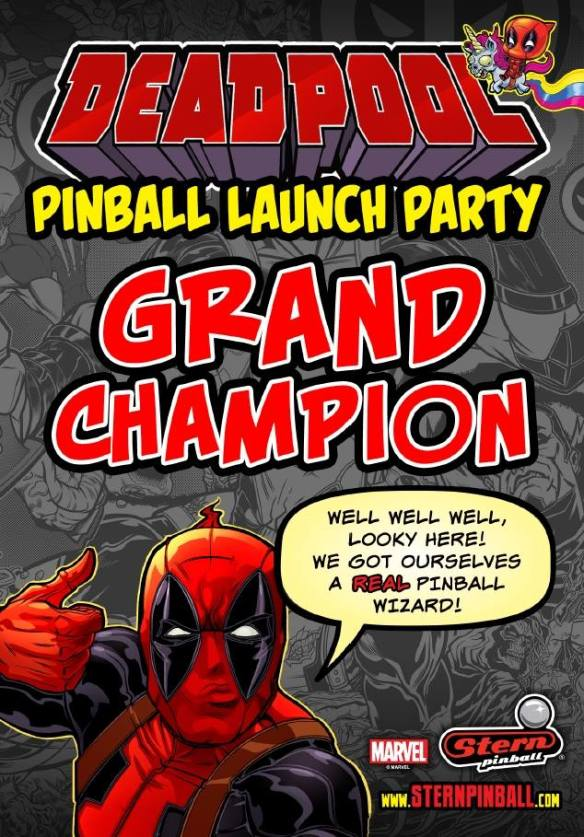 Deadpool Launch Party Champion