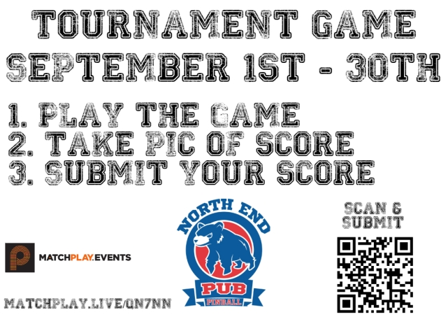 Tournament game signs