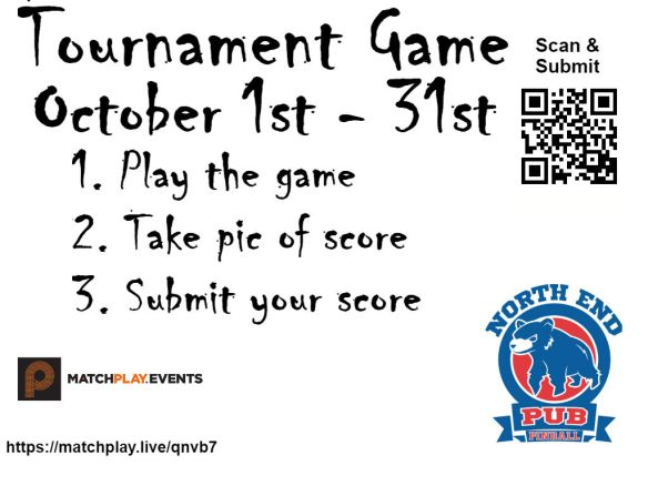 Tournament game signs layered october