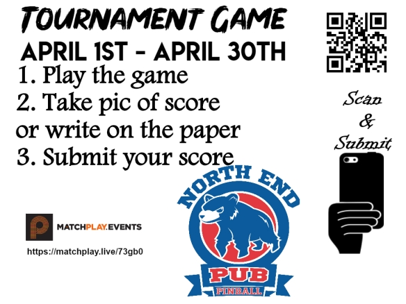 Tournament game signs April NEP