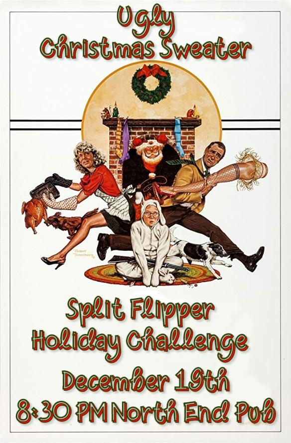 Christmas Sweater Split Flipper